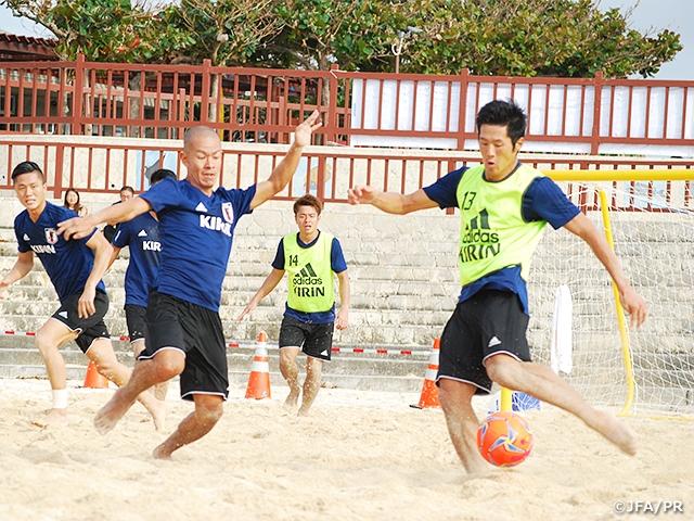 ビーチサッカー日本代表候補 沖縄でAFC選手権前最後の選考合宿をスタート