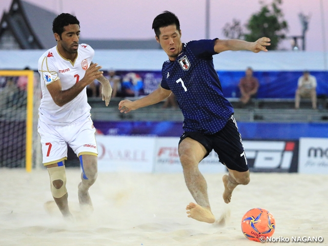 Japan Beach Soccer National Team advances through group stage in 1st place with convincing win over Bahrain at AFC Beach Soccer Championship Thailand 2019
