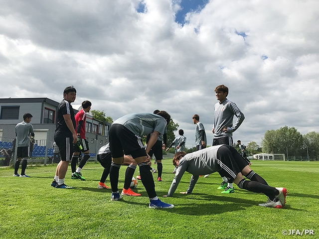 U-20 Japan National Team trains ahead of their second match against Mexico at the FIFA U-20 World Cup Poland 2019