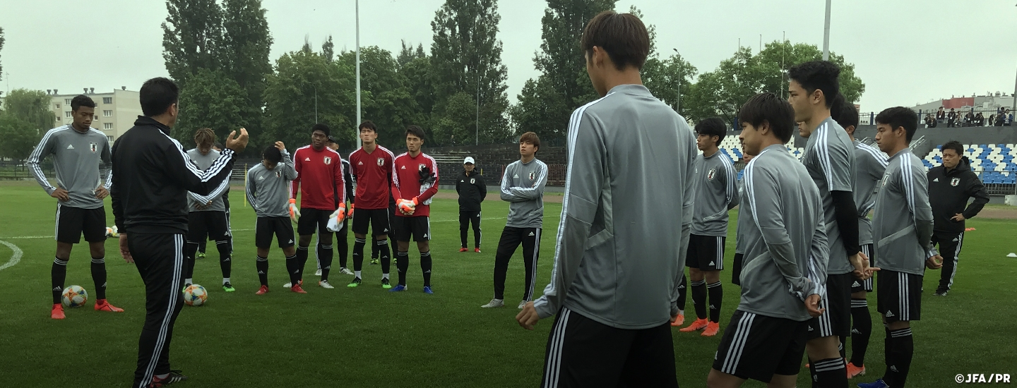 394072c54 ... U-20 Japan National Team holds final training session ahead of their  3rd group stage match against Italy at the FIFA U-20 World Cup Poland 2019  ·