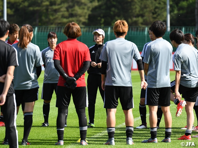 Nadeshiko Japan holds Official Training Session ahead of friendly match against Spain - FIFA Women's World Cup France 2019