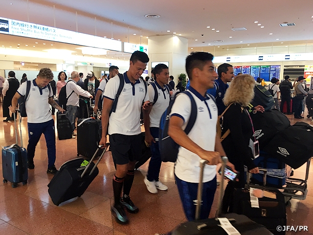 El Salvador National Team arrives in Japan ahead of the KIRIN CHALLENGE CUP 2019 (6/9 @Hitomebore Stadium Miyagi)