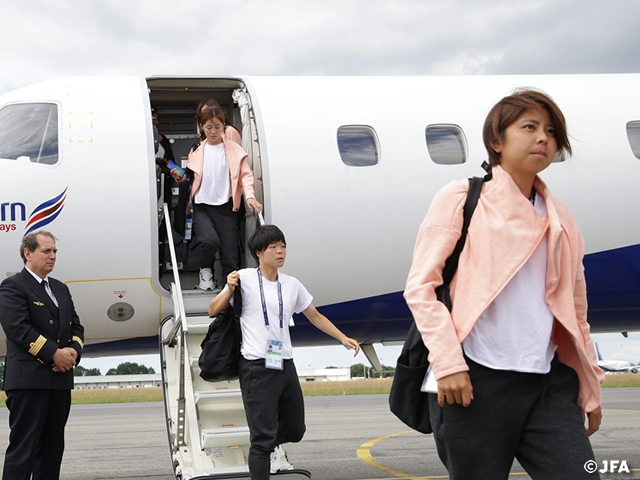 Nadeshiko Japan arrives in Rennes ahead of the Round of 16 at the FIFA Women's World Cup France 2019
