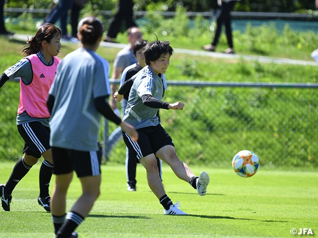 Nadeshiko Japan prepares ahead of their match against Netherlands at the FIFA Women's World Cup France 2019