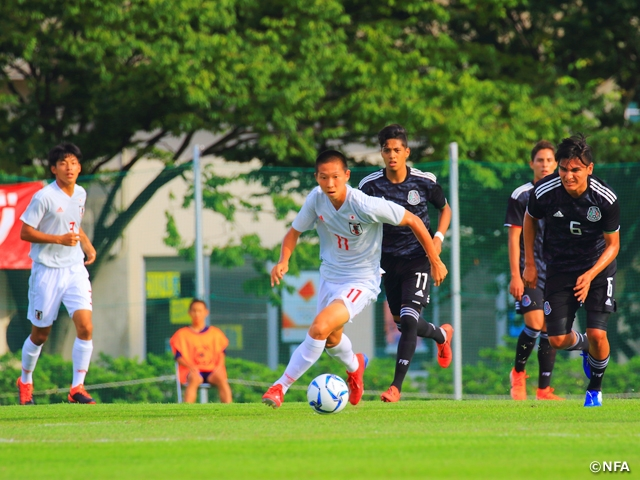 U-17 Japan National Team loses to Mexico in their first match of the 23rd International Youth Soccer in Niigata