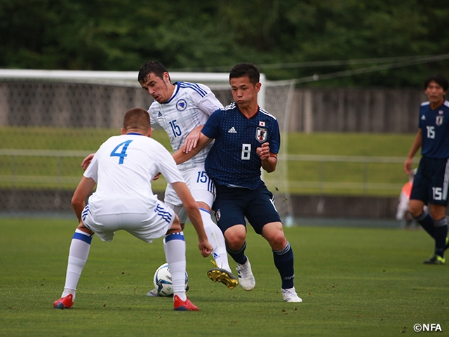 U-17 Japan National Team defeats Bosnia and Herzegovina in their second match of the 23rd International Youth Soccer in Niigata
