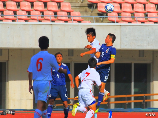 U-17 Japan National Team finishes tournament with win over U-17 Niigata Select Team at the 23rd International Youth Soccer in Niigata