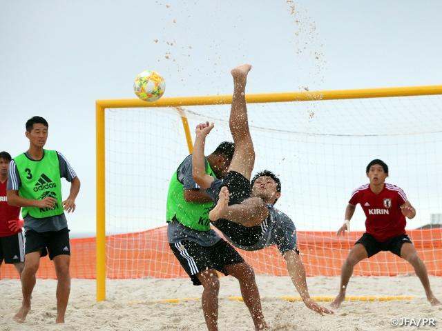 ビーチサッカー日本代表候補、ワールドカップに向けて選考キャンプをスタート