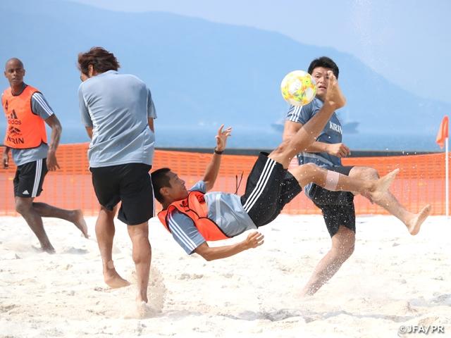 ビーチサッカー日本代表候補、明石市での3日間の強化合宿を終える