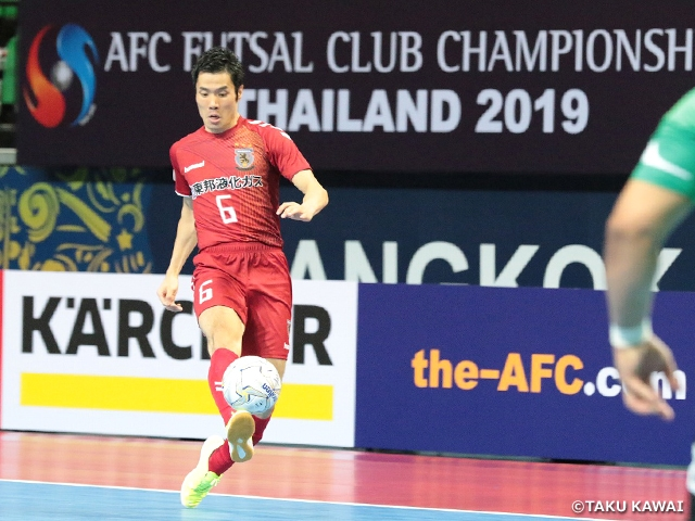 Nagoya Oceans comes from behind to start off the tournament with a victory at the AFC Futsal Club Championship Thailand 2019