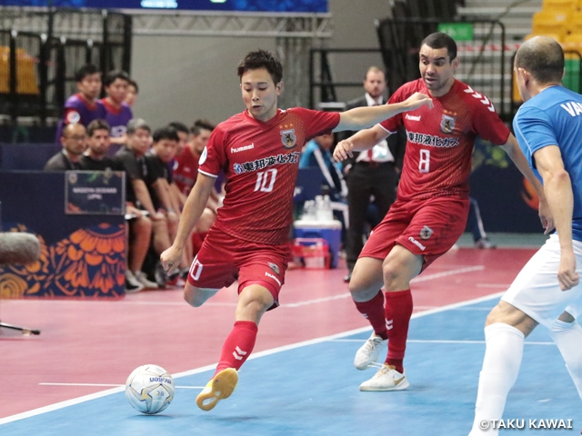 Nagoya Oceans wins back to back matches to clinch final round for second straight year at the AFC Futsal Club Championship Thailand 2019