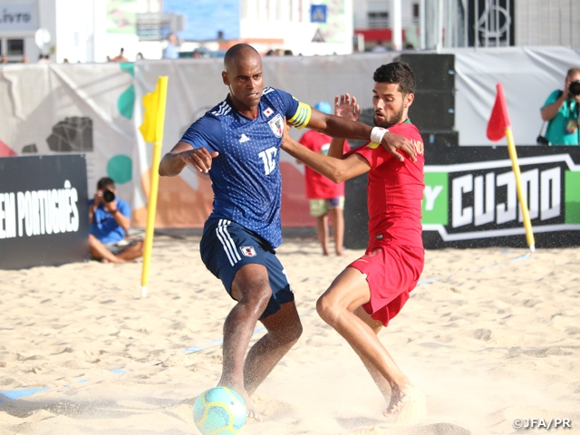 Japan Beach Soccer National Team loses to Portugal despite taking the lead twice - BSWW Mundialito Nazare 2019