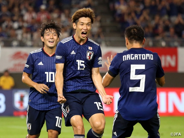 SAMURAI BLUE earns win over Paraguay with the help of Osako and Minamino's goals at the KIRIN CHALLENGE CUP 2019