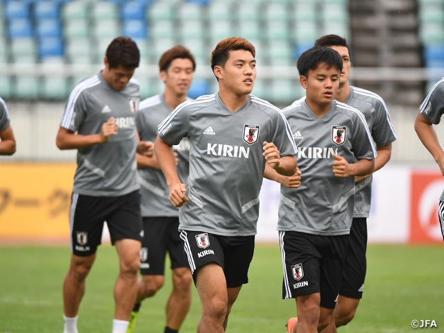 SAMURAI BLUE holds training session behind closed doors at match venue