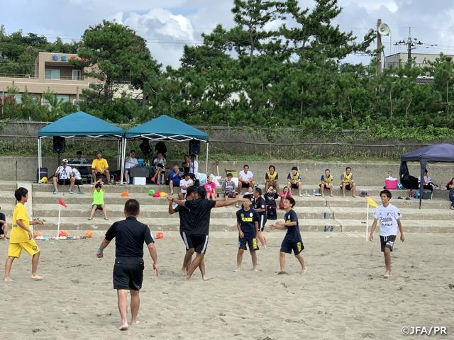 JFAビーチサッカー巡回クリニックを福井県坂井市で開催