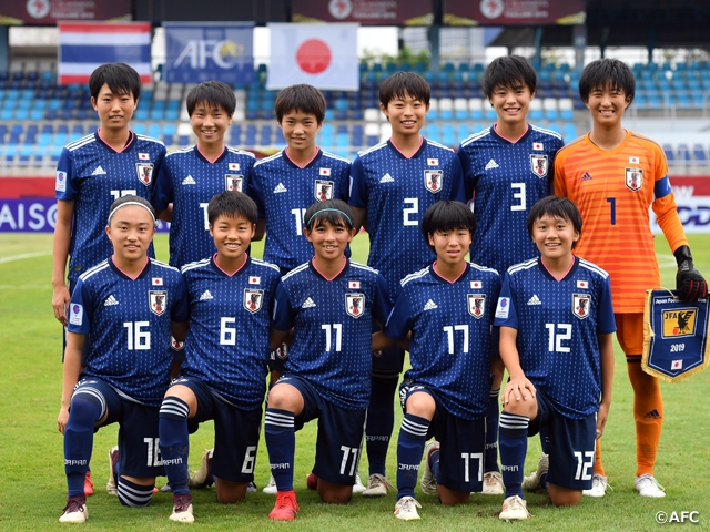 Win over Thailand sends U-16 Japan Women's National Team to Semi-Finals as group leaders - AFC U-16 Women's Championship Thailand 2019