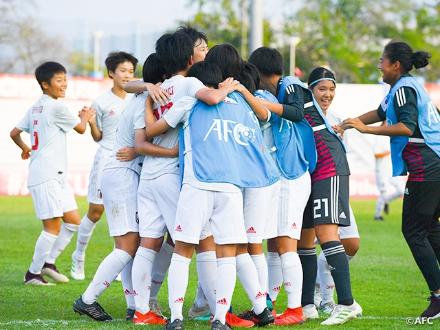U-16 Japan Women's National Team advances to Final and earns ticket to FIFA U-17 Women's World Cup with win over China PR at the AFC U-16 Women's Championship Thailand 2019 Semi-Finals