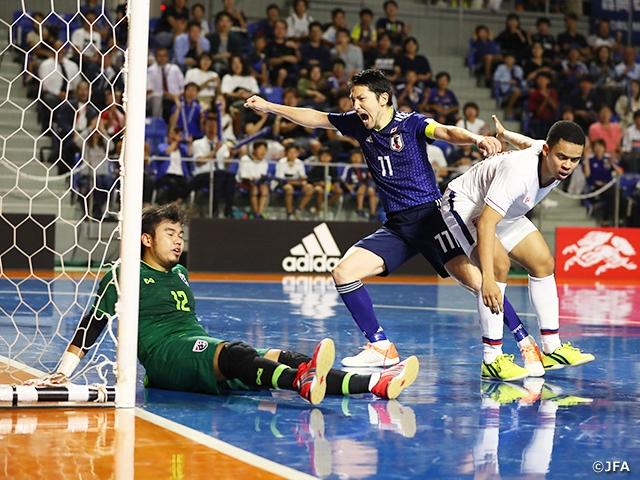 フットサル日本代表、タイとの2戦目で勝利! ~フットサル国際親善試合 対フットサルタイ代表(9/25@愛知)