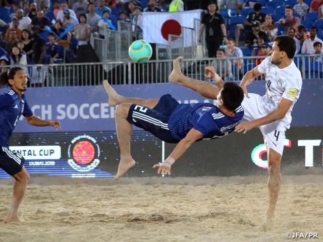 ビーチサッカー日本代表、インターコンチネンタルカップでエジプト代表に勝利し5位で大会を終える