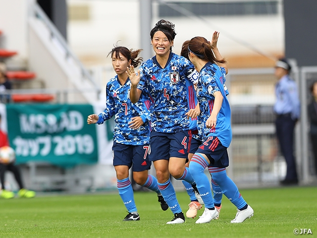 Nadeshiko Japan shutout South Africa 2-0 to earn back to back victories in international matches - MS&AD Cup 2019 vs South Africa Women's National Team