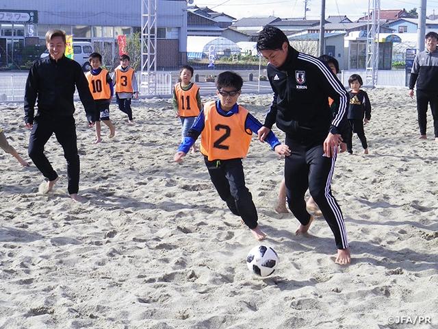 宮城県で初めてのJFAビーチサッカー巡回クリニックを開催