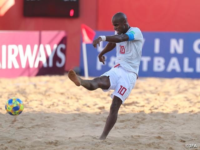 大会2連勝、茂怜羅の決勝点でアメリカに4-3で勝利 ~FIFAビーチサッカーワールドカップパラグアイ2019