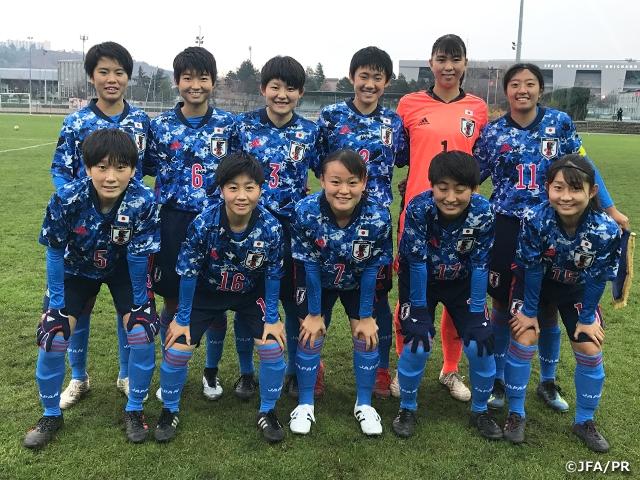 U-17日本女子代表フランス遠征 地元クラブチームに快勝