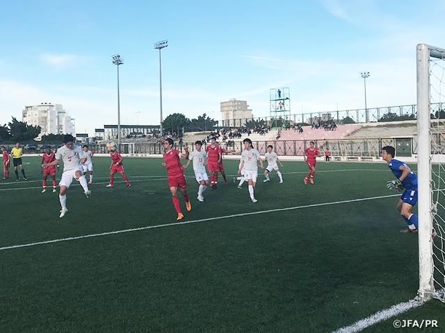 U-16日本代表 地元クラブとの練習試合でチュニジア遠征を開始