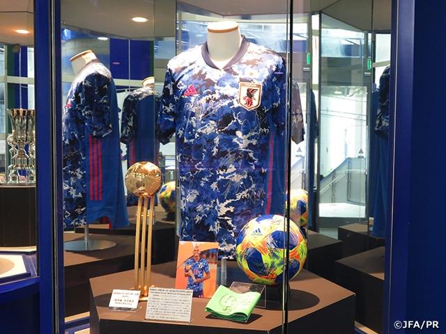 「FIFAビーチサッカーワールドカップパラグアイ2019」 サイン入りユニフォームや個人賞トロフィーなどを展示 ~日本サッカーミュージアム~