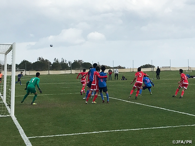 U-16 Japan National Team draw with Tunisia in first international friendly match