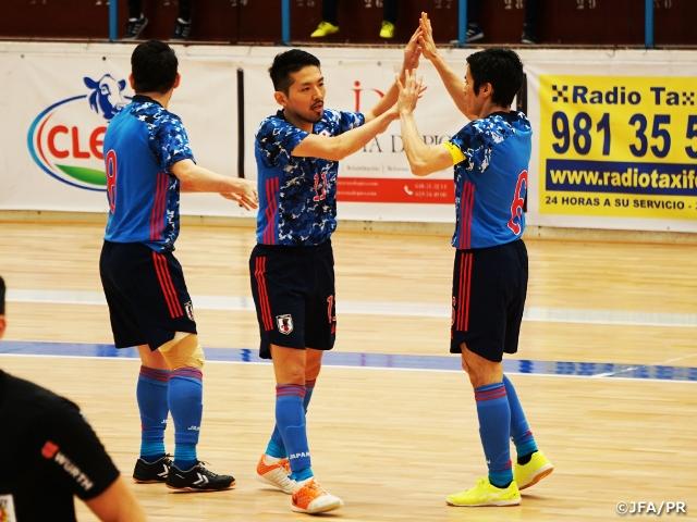 フットサル日本代表 2020年最初の親善試合で白星を飾る【海外遠征(1/28-2/8@スペイン)】