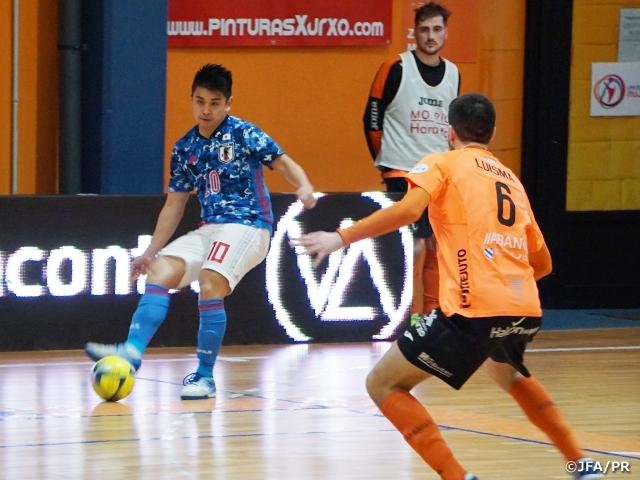 フットサル日本代表 スペインリーグ1部チームとの第2戦を3-2で勝利【海外遠征(1/28-2/8@スペイン)】