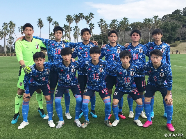 U-17 Japan National Team win first match against Kagoshima Selection U-18 at JENESYS2019 Youth Football Exchange Tournament