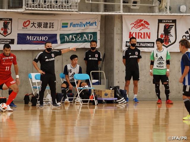 フットサル日本代表候補 トレーニングキャンプ最終日バルドラール浦安とのトレーニングマッチに敗戦