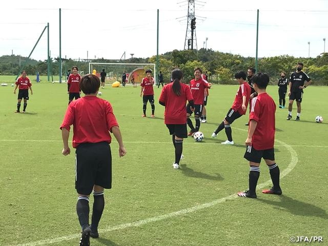 U-20日本女子代表候補 ふたば未来学園高校とトレーニングマッチ、2-1で勝利