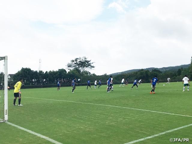 U-16日本代表 トレーニングマッチ第2戦は静岡学園高と対戦