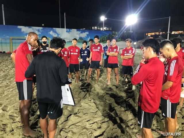 ビーチサッカー日本代表候補、茂怜羅オズ監督就任後初のトレーニングキャンプが始動
