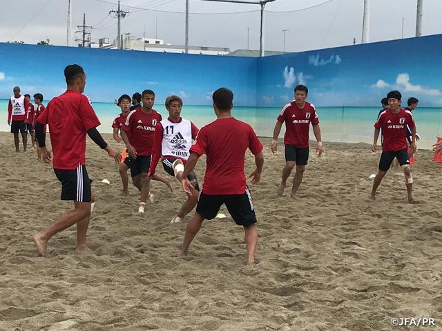 ビーチサッカー日本代表候補、6日間のトレーニングキャンプを打ち上げる