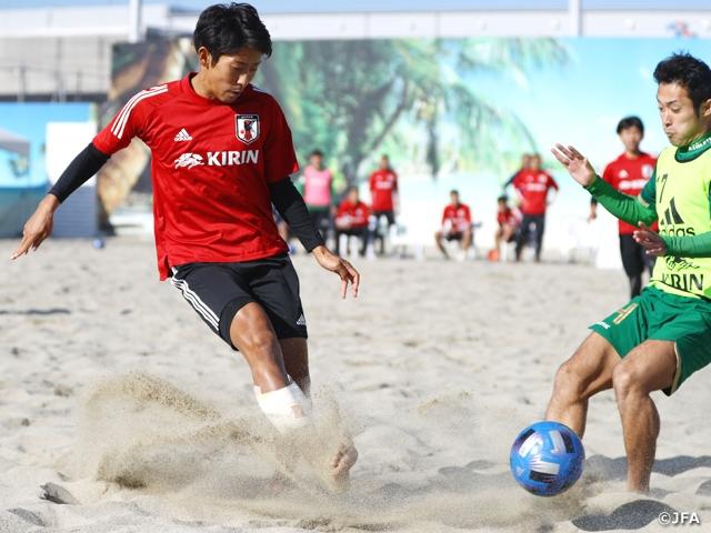 ビーチサッカー日本代表候補 茂怜羅監督初の練習試合を実施し、合宿を終える