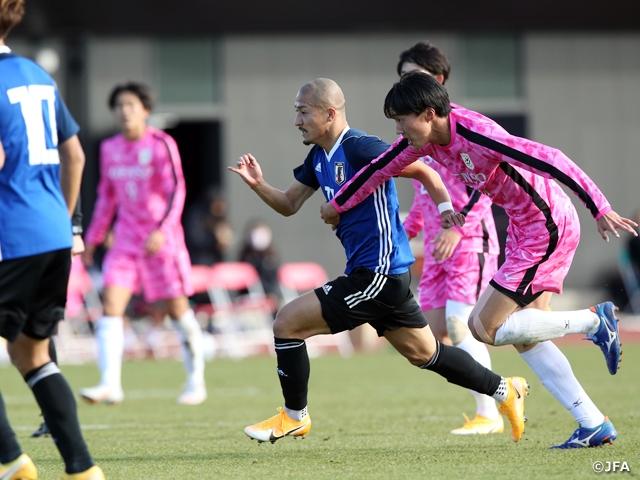 U-23日本代表候補 4-0の勝利で活動を締めくくる