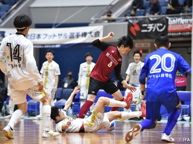 Two regional clubs to face F1 clubs at the round of 16 at the JFA 26th Japan Futsal Championship