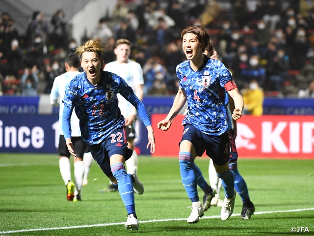 U-24 Japan National Team score three goals in shutout victory against Argentina at the SAISON CARD CUP 2021