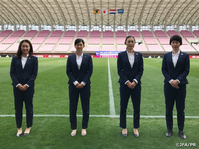 Introduction of the referees in charge of International Friendly Match between Nadeshiko Japan and Paraguay Women's National Team