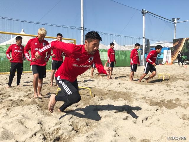 ビーチサッカー日本代表候補 ゴールへの姿勢をより意識したトレーニングを実施