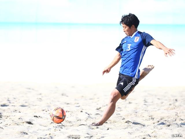 ビーチサッカー日本代表候補 トレーニングマッチで4日間の合宿を締めくくる