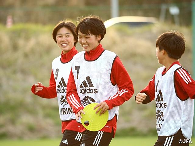 U-16日本女子代表候補 地元高校生とトレーニングマッチを行う