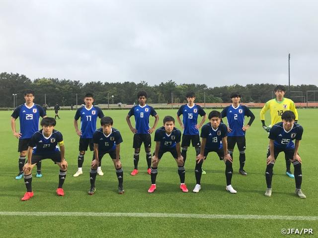 U-17日本代表候補 明海大学とトレーニングマッチを実施し、キャンプを終える