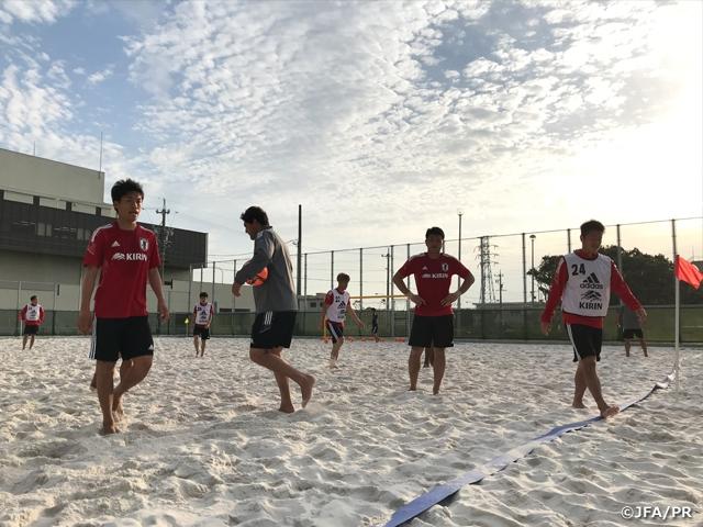 ビーチサッカー日本代表候補 ワールドカップロシア2021出場決定後、初の合宿がスタート