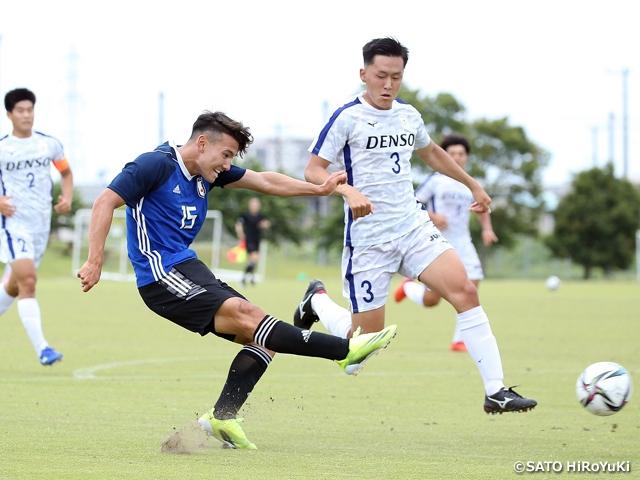 U-20日本代表候補 全日本大学選抜と対戦し、遠征を終える