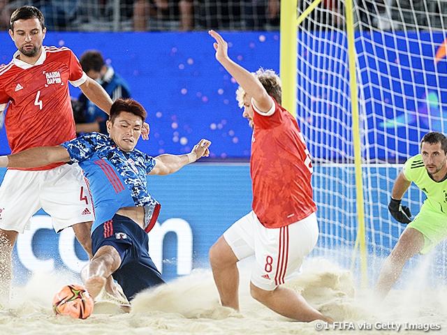 ビーチサッカー日本代表、開催国ロシアに大差を付けられ2位で決勝ラウンドへ FIFAビーチサッカーワールドカップロシア2021
